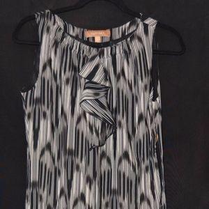 Ellen Tracy Dress Size 2 6 Sleeveless Black Blue